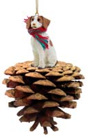 Brittany Brown & White Spaniel Pinecone Pet Ornament