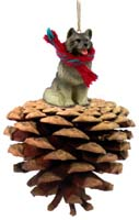 Keeshond Pinecone Pet Ornament