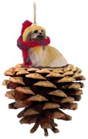 Pekingese Pinecone Pet Ornament