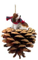 Basset Hound Pinecone Pet Ornament