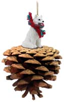 Samoyed Pinecone Pet Ornament