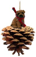 Shar Pei Brown Pinecone Pet Ornament
