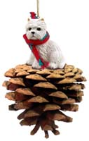 West Highland Terrier Pinecone Pet Ornament