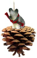 Skye Terrier Pinecone Pet Ornament
