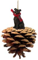 Staffordshire Bull Terrier Brindle Pinecone Pet Ornament
