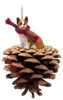 Welsh Corgi Pembroke Pinecone Pet Ornament