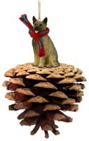 Norwegian Elkhound Pinecone Pet Ornament