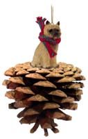 Cairn Terrier Red Pinecone Pet Ornament