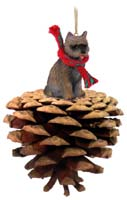 Cairn Terrier Brindle Pinecone Pet Ornament