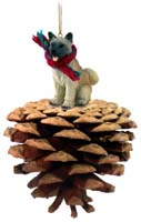 Akita Fawn Pinecone Pet Ornament