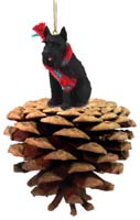 Schnauzer Giant Black Pinecone Pet Ornament
