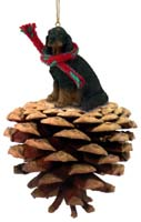 Gordon Setter Pinecone Pet Ornament