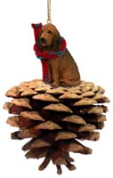 Bloodhound Pinecone Pet Ornament