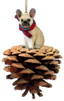 French Bulldog Fawn Pinecone Pet Ornament