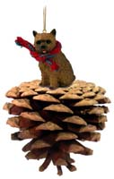 Norwich Terrier Pinecone Pet Ornament
