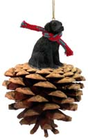 Flat Coated Retriever Pinecone Pet Ornament