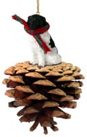 Landseer Pinecone Pet Ornament