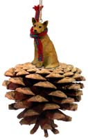 Australian Cattle Red Dog Pinecone Pet Ornament