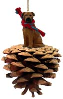 Bullmastiff Pinecone Pet Ornament