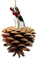 American Fox Hound Pinecone Pet Ornament