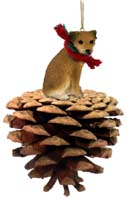 Border Terrier Pinecone Pet Ornament