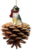 Australian Shepherd Blue Pinecone Pet Ornament