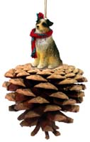 Australian Shepherd Brown w/Docked Pinecone Pet Ornament
