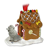 Poodle Gray Ginger Bread House Ornament