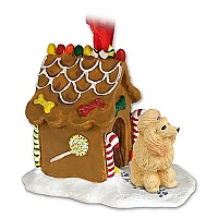 Poodle Apricot Ginger Bread House Ornament