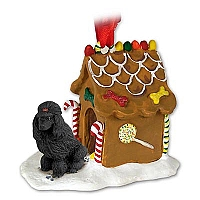 Poodle Black Ginger Bread House Ornament