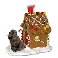 Poodle Chocolate Ginger Bread House Ornament