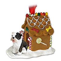 Bulldog Brindle Ginger Bread House Ornament