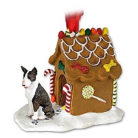Bull Terrier Brindle Ginger Bread House Ornament