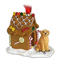 Golden Retriever Ginger Bread House Ornament