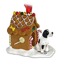 Pointer Black & White Ginger Bread House Ornament