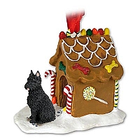 Bouvier des Flandres Ginger Bread House Ornament