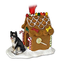 Alaskan Malamute Ginger Bread House Ornament