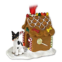 Rat Terrier Ginger Bread House Ornament