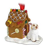 Clumber Spaniel Ginger Bread House Ornament