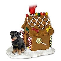 Rottweiler Ginger Bread House Ornament