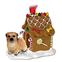 Tibetan Spaniel Ginger Bread House Ornament