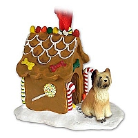 Briard Ginger Bread House Ornament