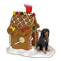 Coonhound Black & Tan Ginger Bread House Ornament