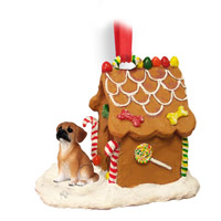 Puggle Ginger Bread House Ornament