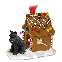 Schnauzer Black Ginger Bread House Ornament