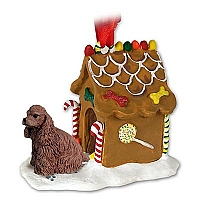 Cocker Spaniel Brown Ginger Bread House Ornament