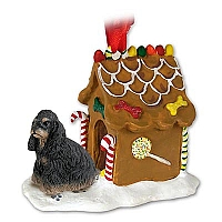 Cocker Spaniel Black & Tan Ginger Bread House Ornament