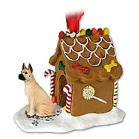 Great Dane Fawn Ginger Bread House Ornament