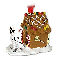 Great Dane Harlequin Ginger Bread House Ornament