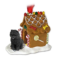 Chow Black Ginger Bread House Ornament